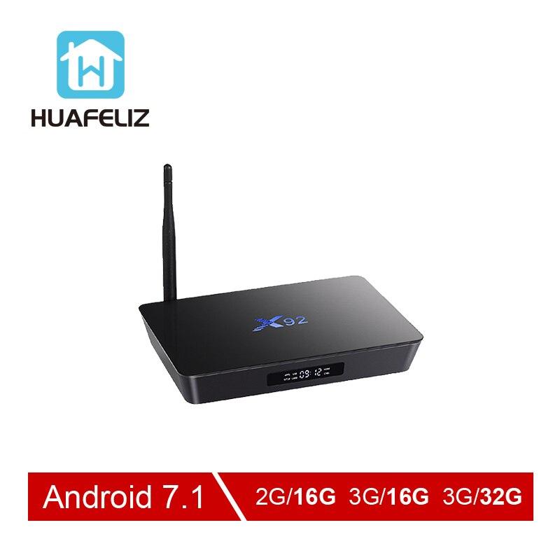 X92 tv box Amlogic S912 boîtier de smart tv Android 7.1 4 K WIFI lecteur multimédia Octa-core HDMI 2.0 3G 32G BT Set-top Box Et mini clavier