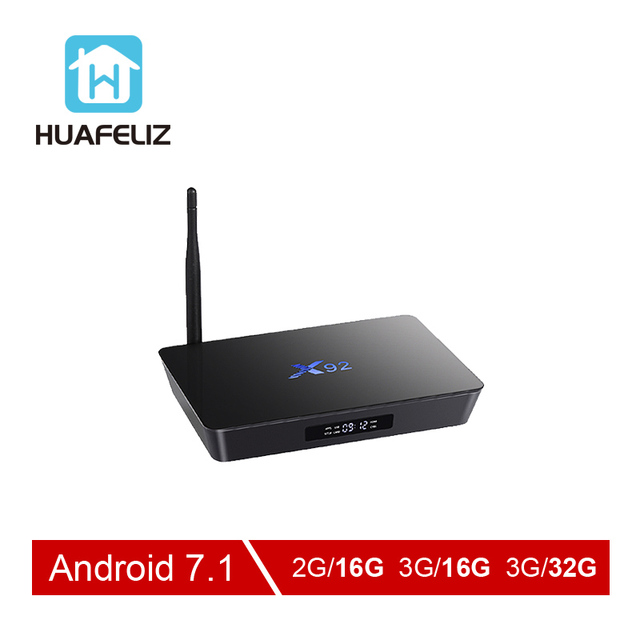 X92 tv box Amlogic S912 boîtier de smart tv Android 7.1 4 K WIFI lecteur multimédia Octa-core HDMI 2.0 3G 32G BT Set-top Box Et mini clavier