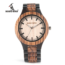 BOBO BIRD N28 New Wood Watches Quartz Watch Branding Dial Face Unique Antique Design Orologi for Men in Paper Gift Box