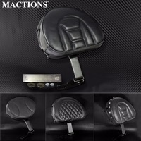 Motorcycle Accessories Leather Plug In Driver Rider Backrest Pad For Harley Fatboy Heritage Softail 2007 2015 2016 2017