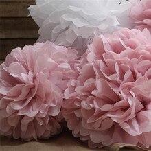 Mixed Sizes 6/8/10/12/14inch Handmade Flower Balls DIY Paper Pom Pom Hanging Baby Shower Holiday Wedding Decorations