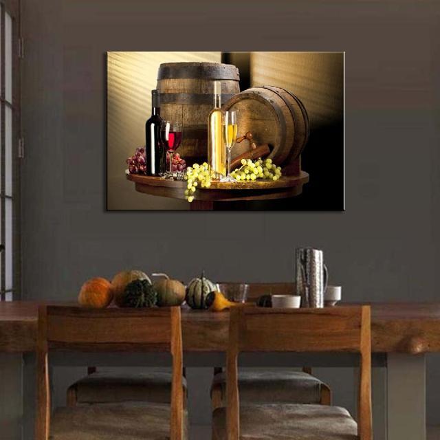 Wine Bottle Wall Art aliexpress : buy 1 pcs modern still life wine bottles wall art