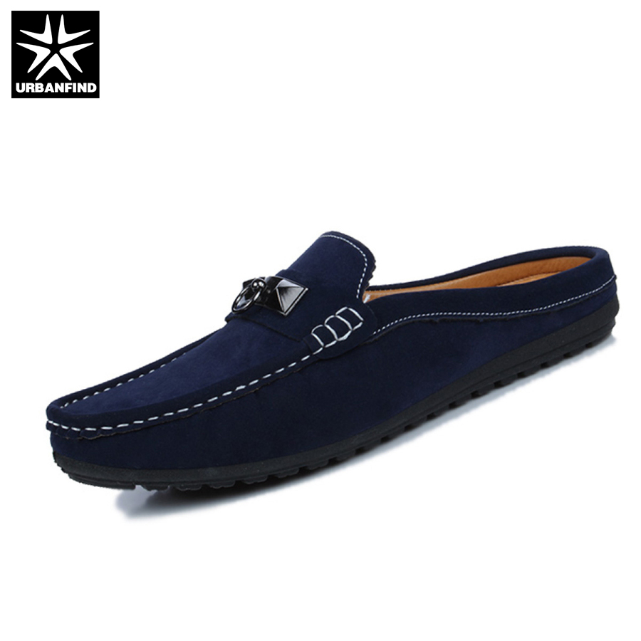 Summer Men Shoes Casual Luxury Brand Mens Penny Loafers Leather Half Slipper Slip On Italian Driving Shoes Men Moccasins branded men s penny loafes casual men s full grain leather emboss crocodile boat shoes slip on breathable moccasin driving shoes