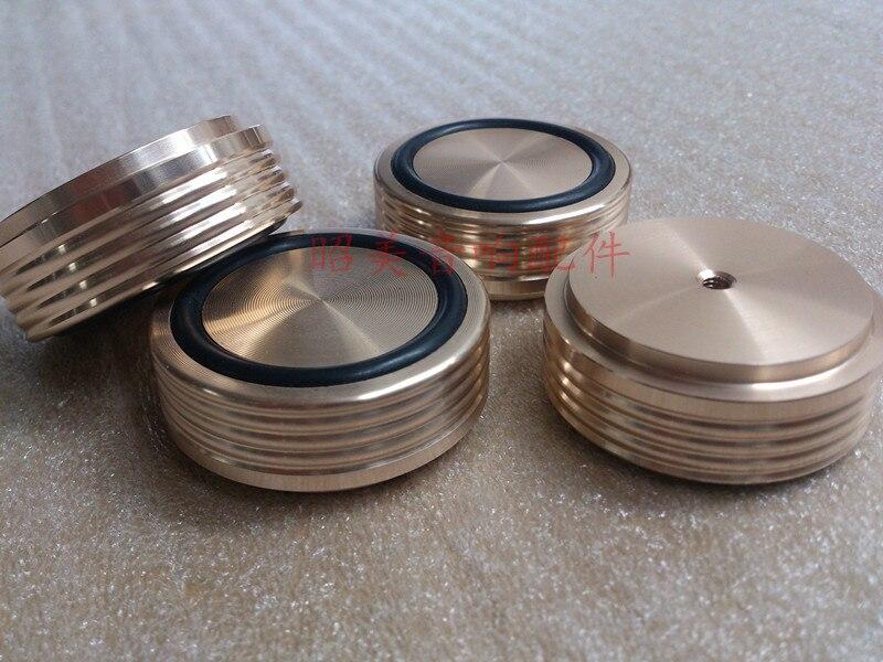 4 Stks Gouden Zwart Zilver Aluminium Voeten Voor Versterker/luidspreker (schroefdraad) D: 44mm H: 17mm