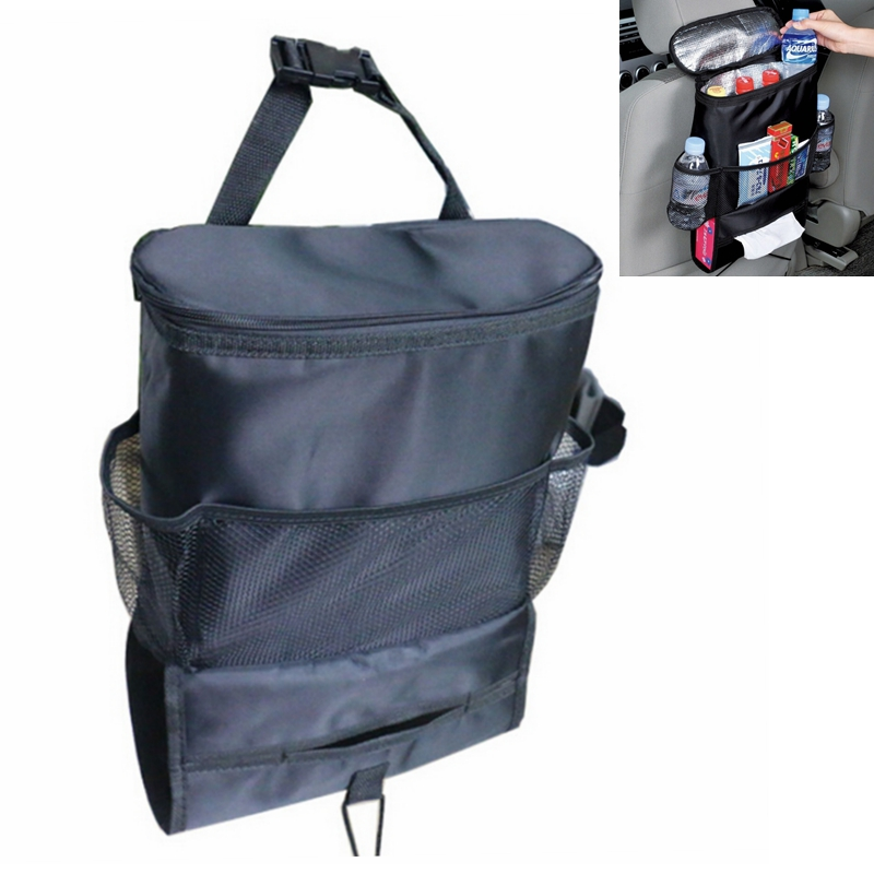 1pc Car Cooler Bag Covers Seat Organizer Insulated Food Storage