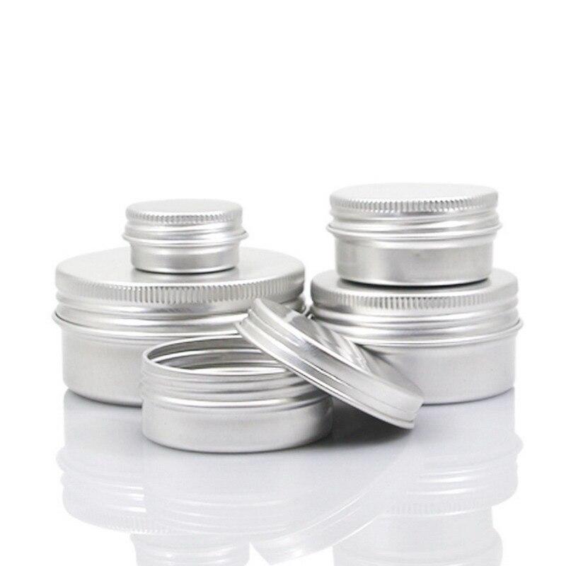 5 10 15 30 60 100 ml Leere Aluminium Kosmetische Behälter Pot Lip Balm Jar Zinn Für Creme Salbe Hand creme Container Box