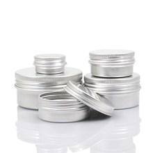 5 10 15 30 60 100 ml Empty Aluminium Cosmetic Containers Pot Lip Balm Jar Tin For Cream Ointment Hand Cream Container Box
