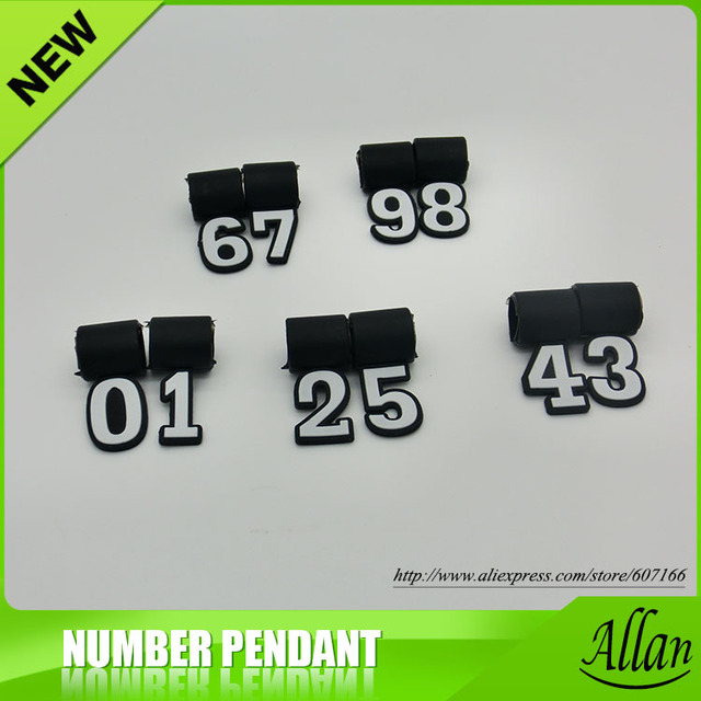 2017 Wholesale Cheap Jewelry Titanium Sports Necklace Accessories Lucky Number Silicone Pendant