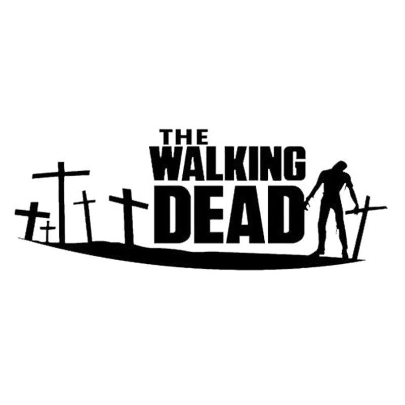 24.3 CM * 8.9 CM The Walking Dead Pegatina Vinilo Living Dead Zombie Apocalypse