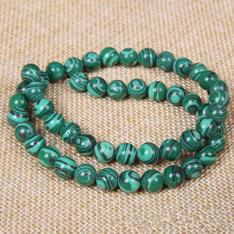 1strip Malachite Natural Stone Beads 4/6/8/10/12/14mm Round Crystal Quartz Loose Beads DIY Bead Bracelet Craft Jewelry