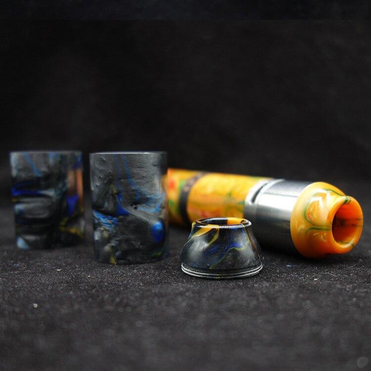 1 set In Resina Tubo Con Resina Drip Tip Per Vgod Pro 2 Mod Ecig Vape Accessorio