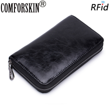 COMFORSKIN European And American Large Capacity Card Wallet Multi-function RFID Protection Unisex Credit Holders Case