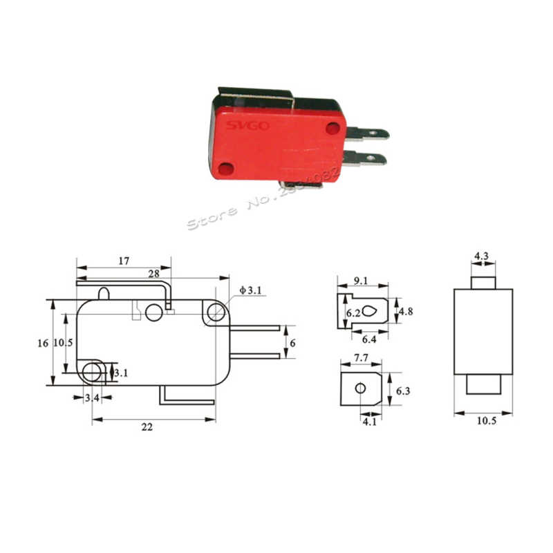 10 sztuk 3-16A 250VAC mikro przełącznik 1NO 1NC 2 pin mikro limit swirch przełączniki taktowe przycisk przełącznik podróży wrażliwe SV-16-1C25