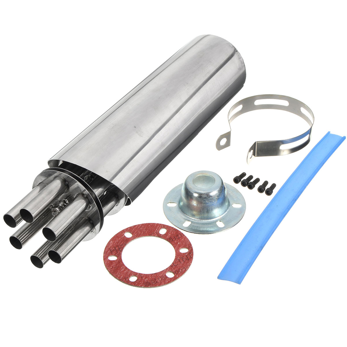 цены Stainless Steel Machine Gun Rotating Motorcycle Exhaust Muffler For Scooter