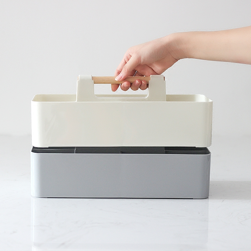 Creative coffee table living room desktop remote control storage box Simple plastic table cosmetic finishing box in Storage Boxes Bins from Home Garden