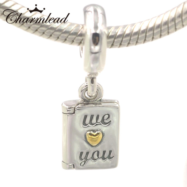 f5fe441cb6814 US $15.85 |Charmlead 925 Sterling Silver Happy Mother's Day Charm Pendant  Golden Heart Bead Fits Pandora Charms Bracelet DIY Jewelry-in Beads from ...