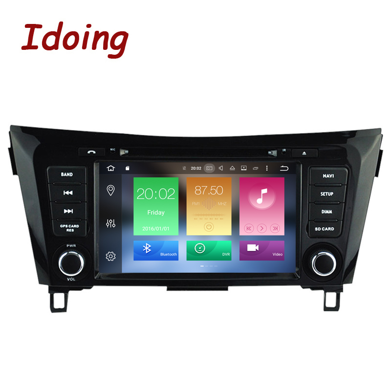 Idoing 2Din 8 Android 8.0 Voiture DVD Radio Lecteur Fit Nissan qashqai/X-trail 2014 GPS Navigation 8 Core 4g + 32g WIFI Bluetooth TV