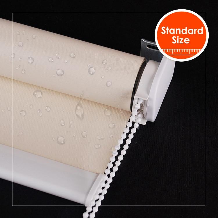 Self-Adhesive Pleated Blinds Curtains Half Blackout Windows For Bathroom BalconS