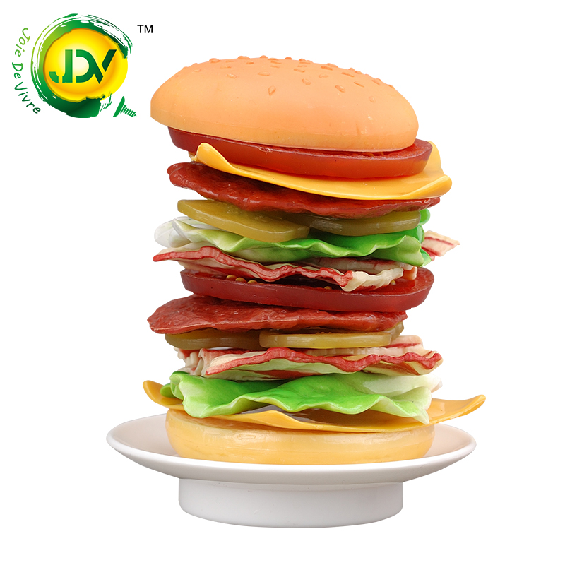 Hamburgers joy Stacked music Puzzle Game Toy action Fun Family lucky balance Gift for Children 's Day Summer Food Kitchen Cook interactive ice breaking table penguin trap children funny game penguin trap activate entertainment toy family fun game with box