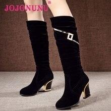 women high heel half short boot mid calf warm winter snow glitter boots fashion office work footwear shoes P21861 size 34-40