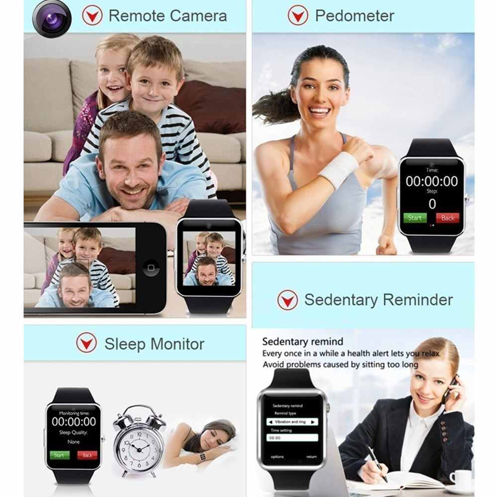Smart Watch Bluetooth Dial/Answer TF SIM Card Camera Fitnesse Tracker sleep Monitor Bracelet For Android IOS Xiaomi HUAWEI pkZ60