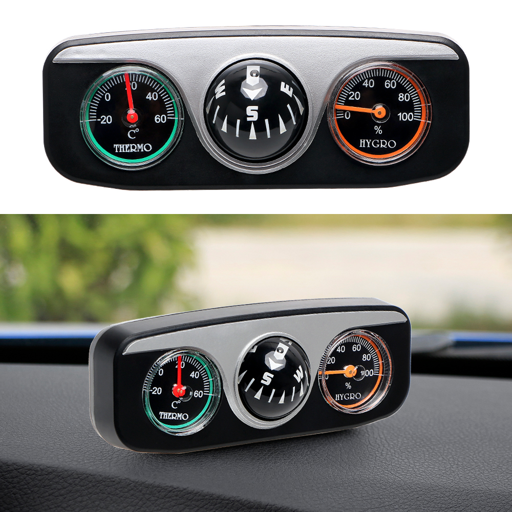Compass Thermometer Hygrometer For Auto Boat Vehicles Car Ornaments Interior