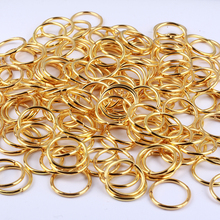 GDFSY 4/5/6/7/8/10/12/14/16mm 800pcs/lot Alloy Gold Rings Earring Round Connector For Jewelry Keychain DIY Accessories S048