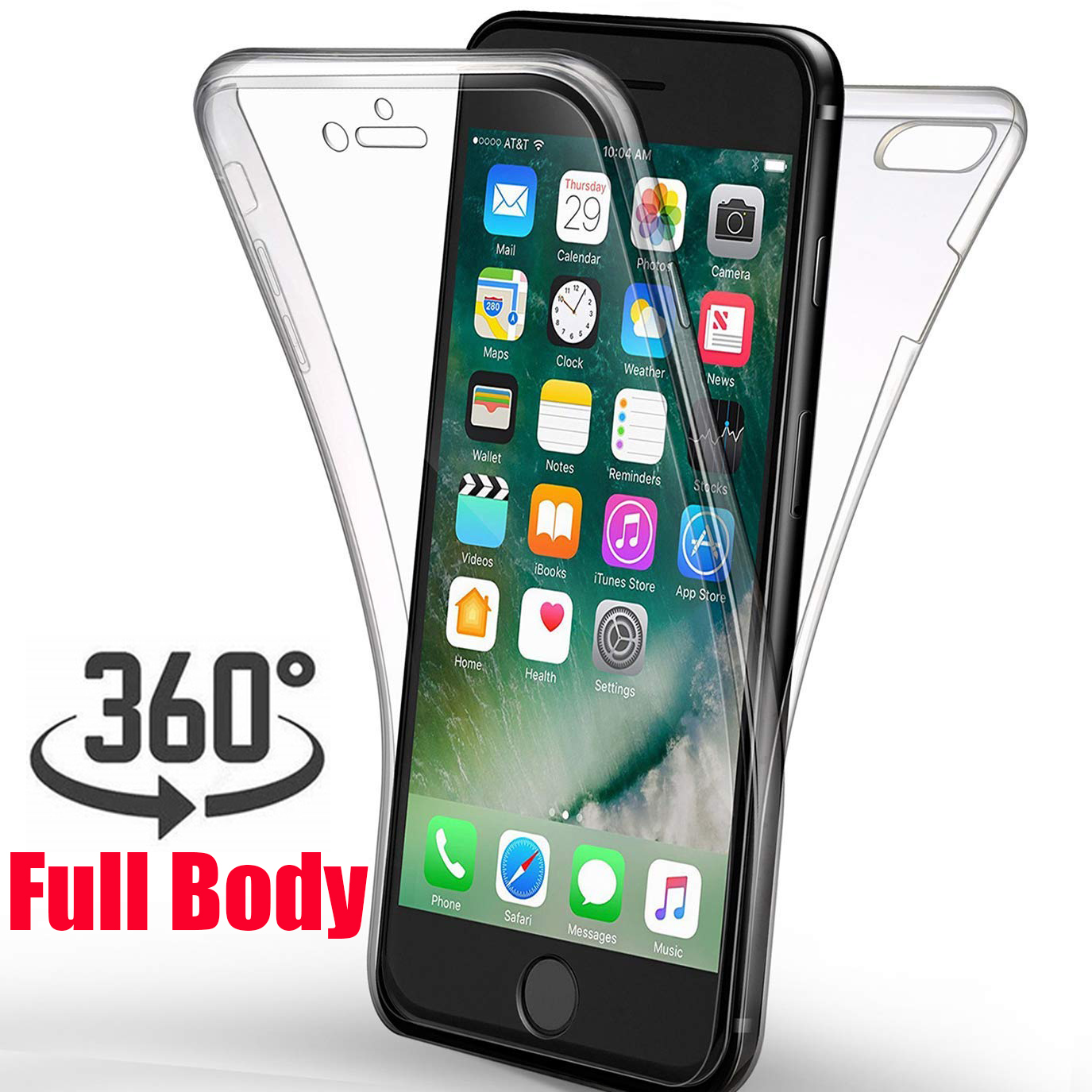 30ac5f03d9a 360 Degree Body Clear Case for iphone X XS MAX XR 10 7 8 Plus 6 s 6 SE 5S 5
