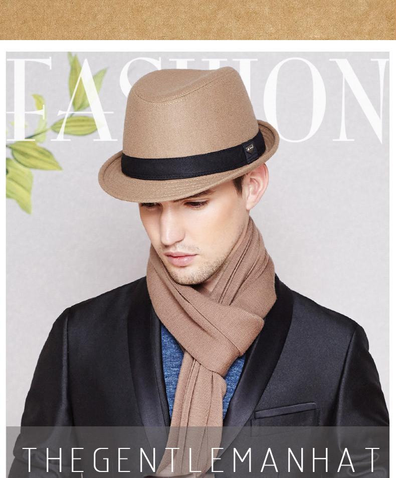 vintage fedora hat black fedora hats for men wool felt hat mens hats fedoras mens fedora hats winter vintage hat jazz hat (1)