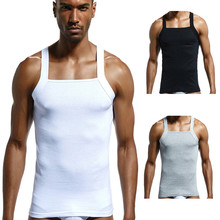 29e7885942778 2019 new style hot sales Fashion Men s Casual Solid Designer Cut Ribbed  Cotton Vests Top Blouse