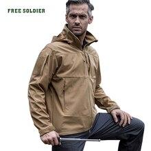 Free Soldier для активного отдыха, спорта, кемпинга, туризма, тактические куртки, мужское пальто, Водорастворимая ветрозащитная ткань