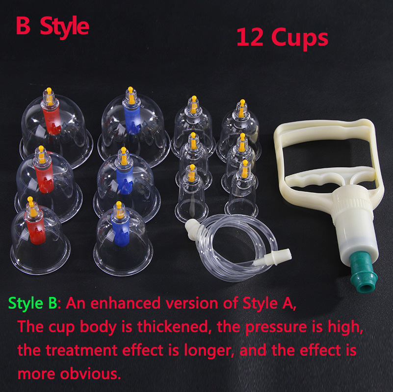 12 Cans Cupping Set Medical Vacuum Cupping Suction Therapy Device Body Massager Set Chinese Medical in Cupping from Beauty Health