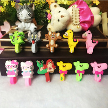 50pcs/lot Crocodile Giraffe Cartoon Model Headphone Cord Holder Earphone Cable Wire Organizer USB Charger Cable Winder Best Gift