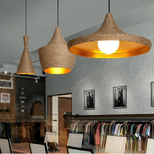 Vintage light Rope Pendant Light Lamp Loft Creative Personality Industrial Lamp Edison Bulb American Style For Living Room