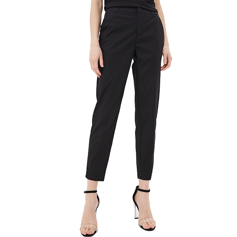 Pants & Capris MODIS M181W00498 women capri trousers for female TmallFS stylish high waisted black wide leg women s capri pants