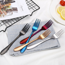 4 8 12 16 24 Pieces Rainbow Dinner Set Wedding Travel Cutlery Set 18/10 Stainless Steel Dinner Knife Fork Scoops Silverware Sets