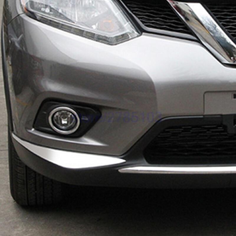 Prix pour Pour Nissan x-trail X Trail T32 Rogue 2014 2015 2016 avant Pare-chocs Coin Protecteur Couverture Garniture ABS Chrome Accessoires De Voiture 2 pcs
