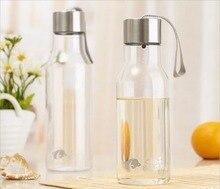 650 ml Botella de Jugo de Frutas Té con Leche Tazas de Negocios Portátil Coche Deportivo Ciclismo Botellas de Agua de Plástico Libre de BPA Garrafa Termica