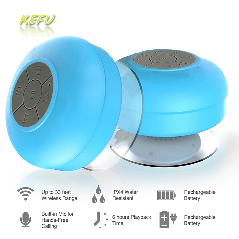 Mini Portable Subwoofer Shower Bathroom Waterproof Wireless ...