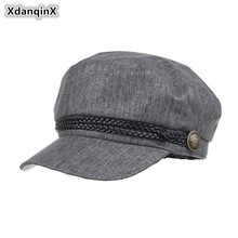 XdanqinX 2019 New Style Summer Visor Hat Thin Newsboy Caps For Women Vintage PU Ribbon Female Simple Elegant Retro Brand Cap