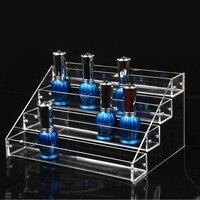 Bincoco Style Clear Acrylic Diy Layers Makeup Cosmetic Organizer Box Mac Lipstick Jewelry Display Stand Holder