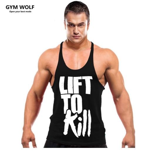 2017 Men font b Bodybuilding b font gyms clothing tank top font b Fitness b font