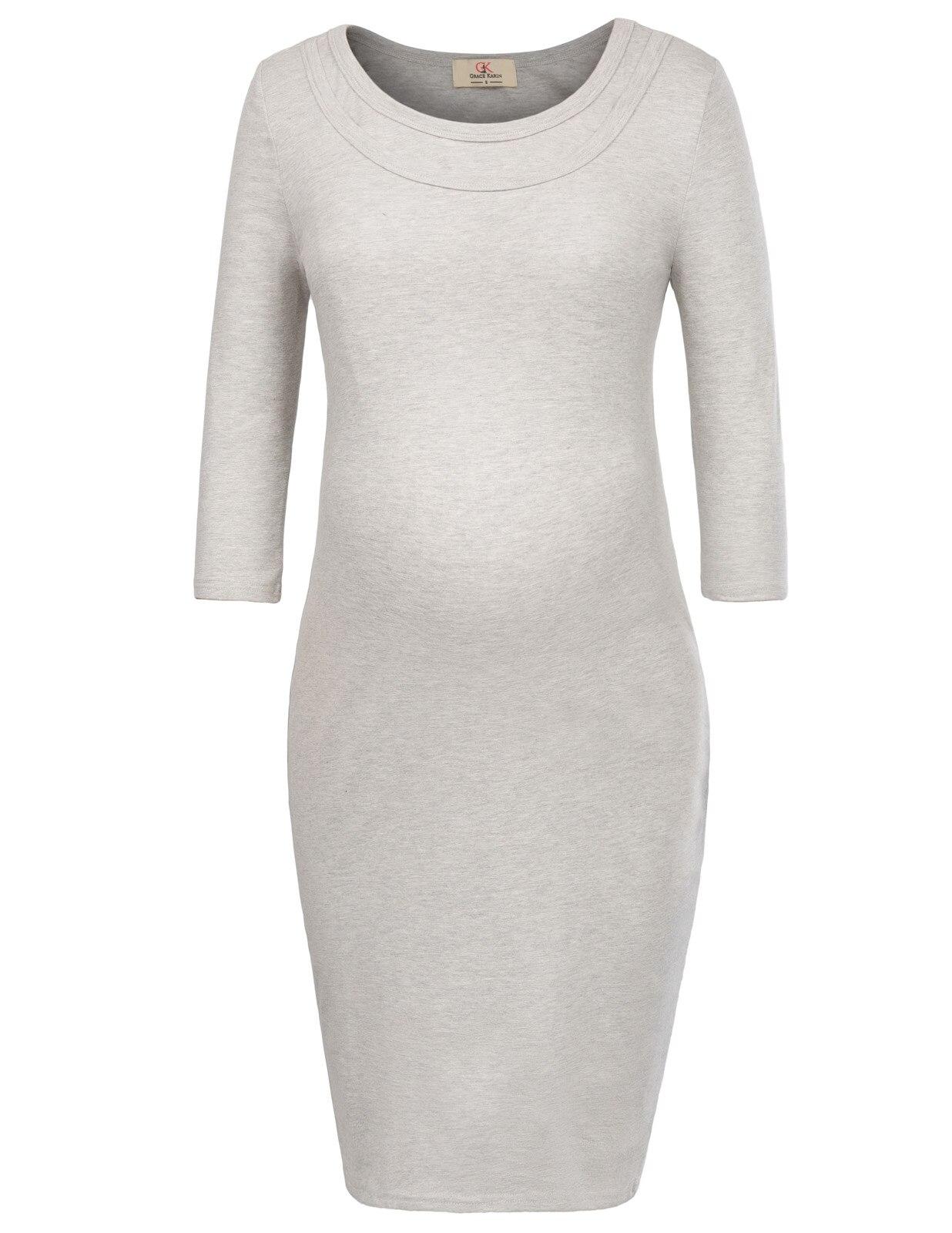 sexy Pregnant Women pencil dress half Sleeve Crew Neck Maternity Nursing Breastfeeding Cotton solid Dress