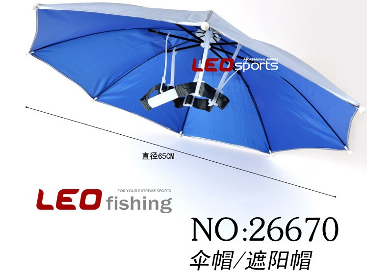 Weatherproof fishing umbrella hat, wearing umbrellas, sunscreen, folding umbrella hat, fishing hat,