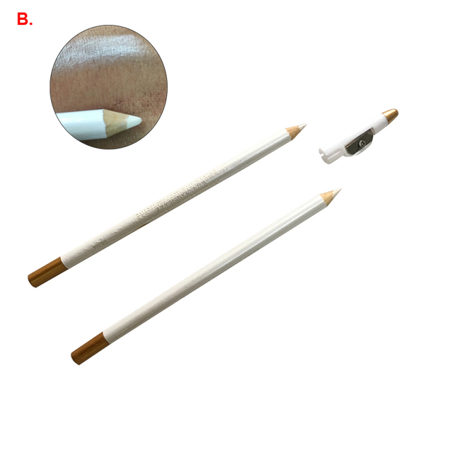 2pcs Microblading Eyebrow Pencil White Color Natural Long lasting Semi Permanent Makeup Tools Eyebrow Pencil Cosmetic Accessorie 5
