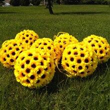 200 шт Искусственные подсолнухи 7 см искусственные цветы Шелковые цветы для украшения сада помадки Свадебные целующиеся шары Арка гирлянда