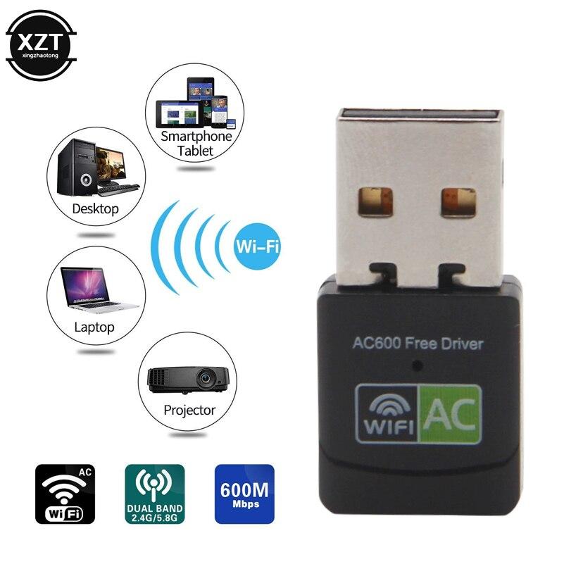 Сетевая карта USB Wifi адаптер Lan 150 600 Мбит/с, Бесплатная антенна-Драйвер AC Wifi приемник ПК Wi-Fi ключ USB Ethernet 802.11n/g/b