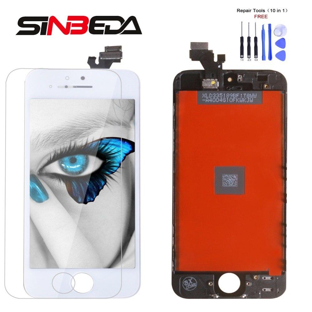 Sinbeda Besten Preis LCD Screen Für iPhone 4 5 5 s 5c LCD Display und Touch Screen Digitizer Montage Ersatz LCD Pantalla