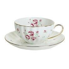 Porcelain Coffee Tea Cups with Saucer, Ceramic Mugs Set Teaware set Drinking Cup Mug