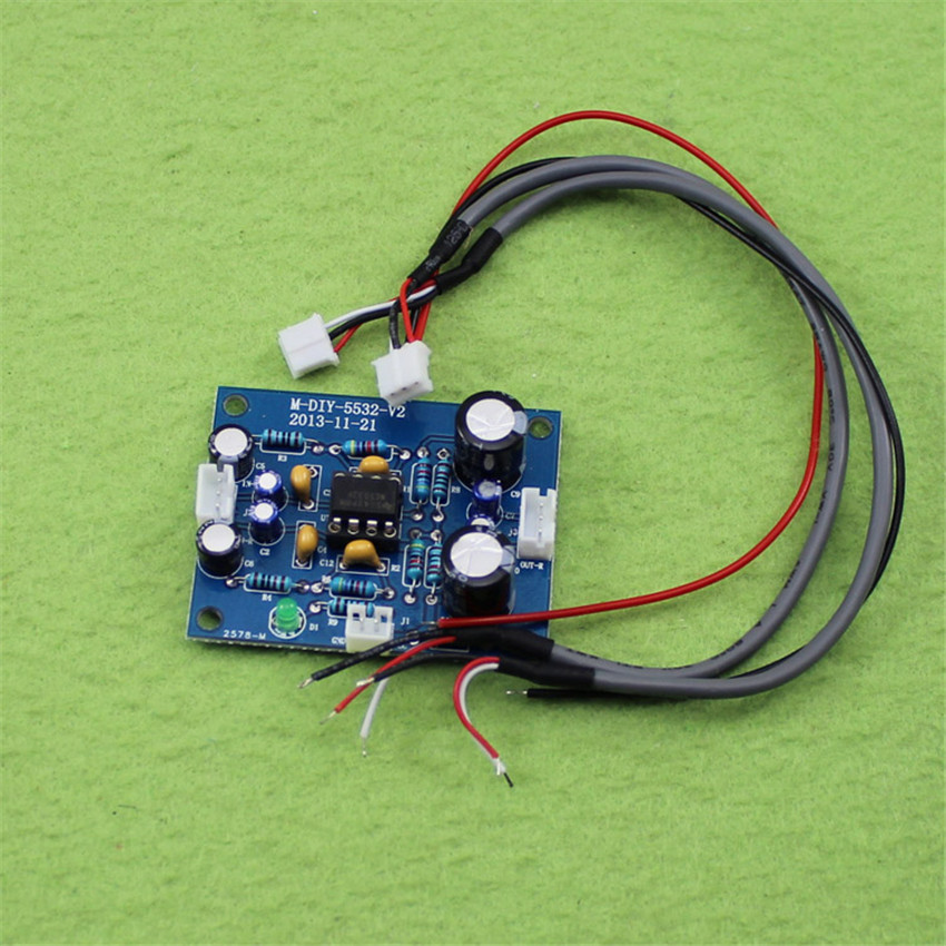 5532 preamplifier board single power DC power supply 12-35V single front plate, can change the operational amplifier (H5B3)